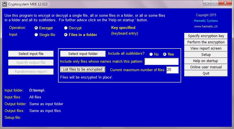 Cryptosystem ME6 User Manual