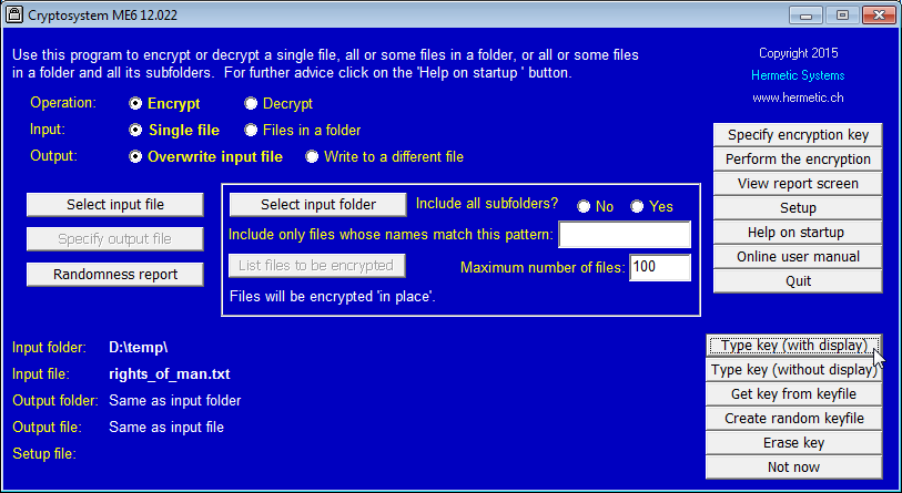 Click to view Cryptosystem ME6 screenshots