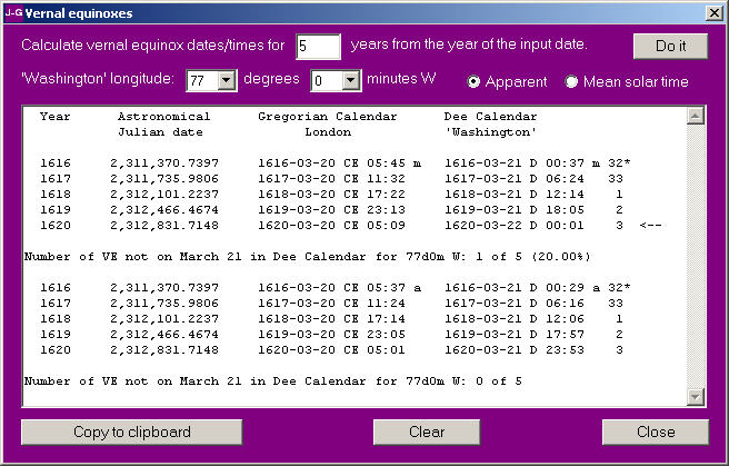 A program to convert Julian Gregorian and Dee calendar dates – Sample Julian Calendar